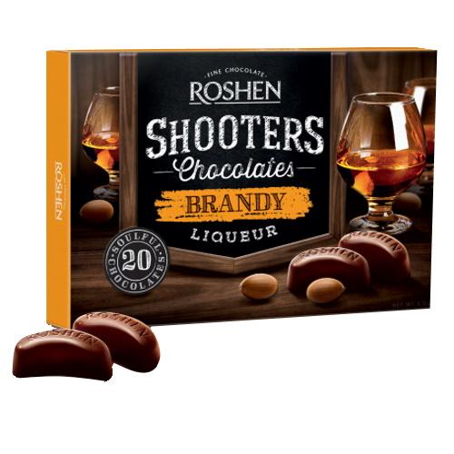 Конфеты в коробке Roshen «Shooters» с бренди-ликёром, 150г