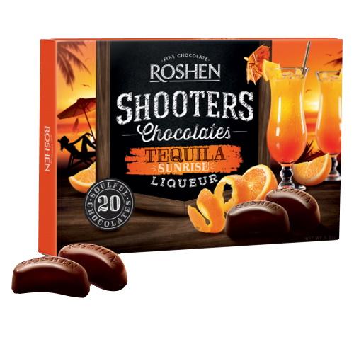 Цукерки в коробці Roshen «Shooters» з текиловим лікером, 150г