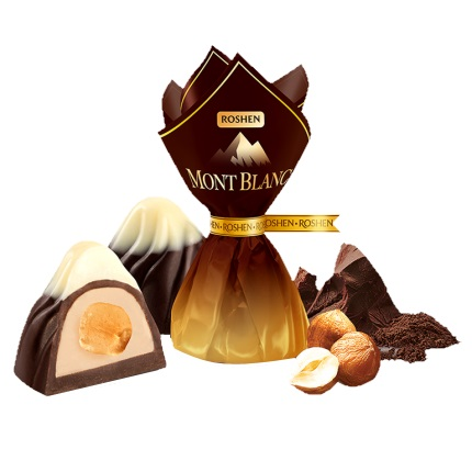 «Монблан» с целым лесным орехом Roshen