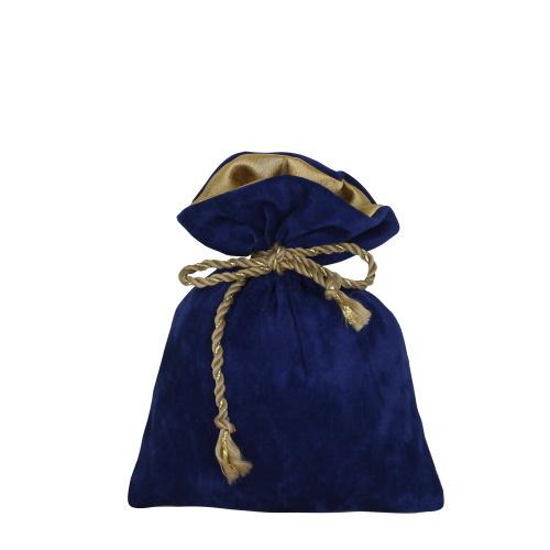 Подарунковий мішечок із замші синій 200г