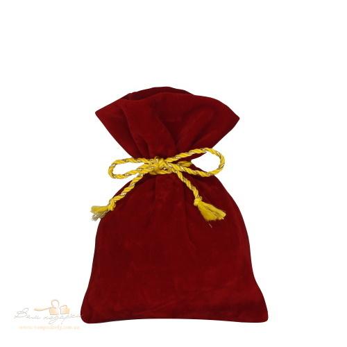 Подарочный мешочек из замши красный 200г