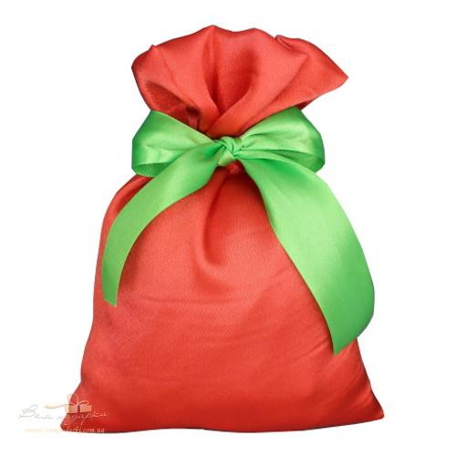 Подарочный мешочек из креп-сатина коралл, КС-3
