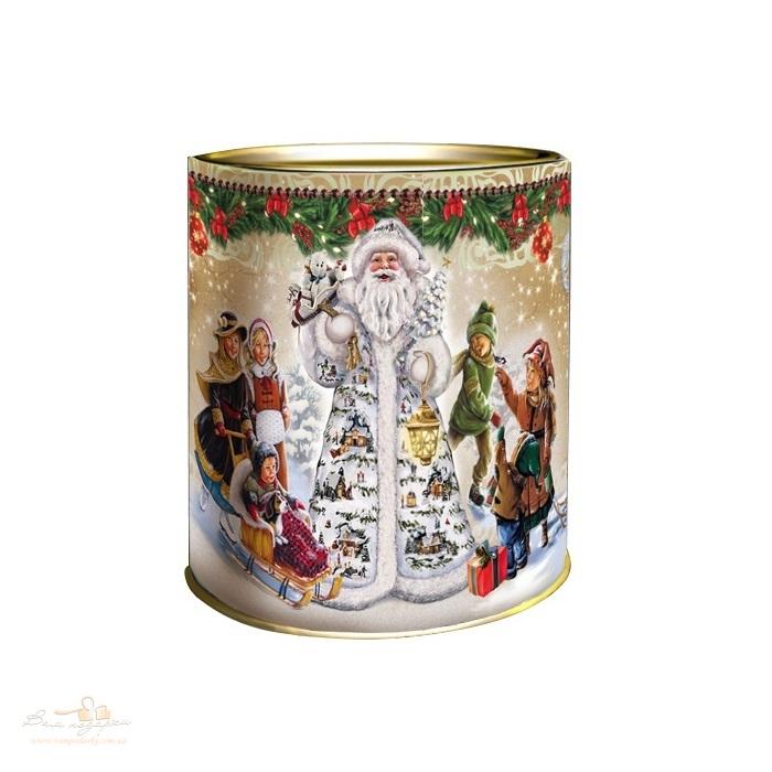 Новорічний тубус «Дід Мороз і діти»