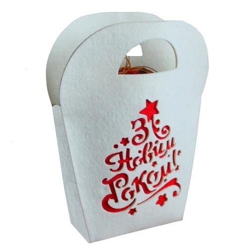 Новогодняя сумка из фетра «С Новым Годом»