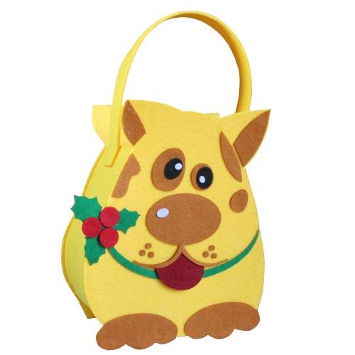 Новорічна упаковка-сумочка з фетру «Котопес», 700г