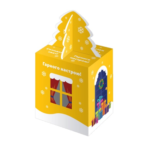 Новогодняя упаковка «Дом желтый», 500г
