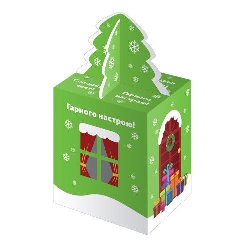 Новогодняя упаковка «Дом зеленый»