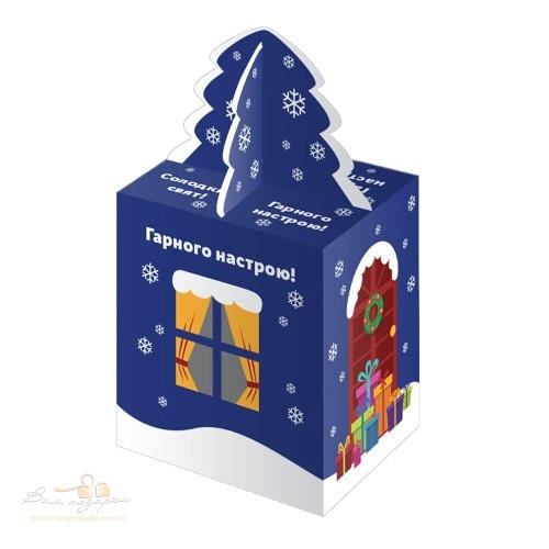 Новорічна упаковка «Будинок синій»