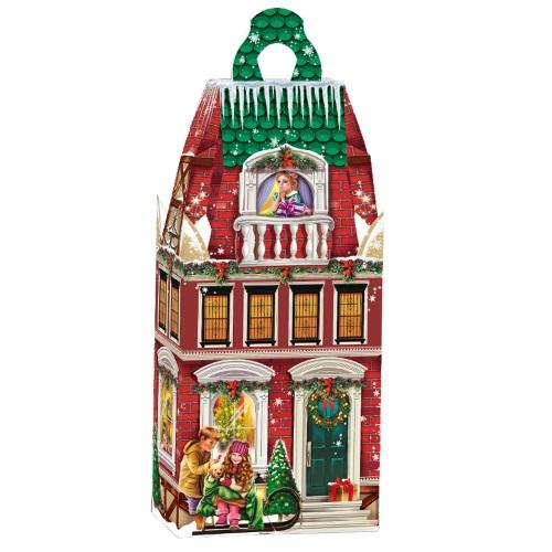 Новогодняя упаковка «Дом с балконом»