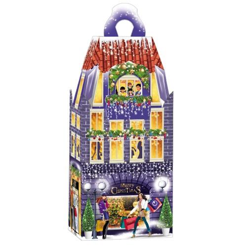 Новорічна упаковка «Сучасний будинок», 1200г