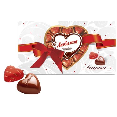 Цукерки в коробці Любимов в молочному шоколаді асорті, 225г