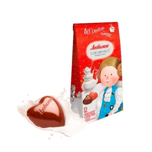 Конфеты в коробке Любимов Gapchinska в молочном шоколаде, 100г