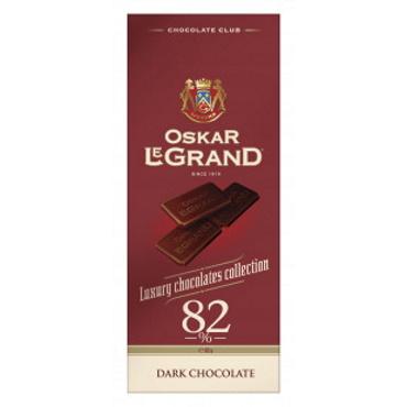 Колекційний гіркий шоколад Oskar Le Grand 82%, 82г