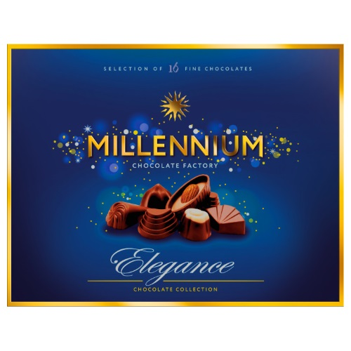 Конфеты в коробке Millennium Ассорти Elegance в молочном шоколаде, 143г