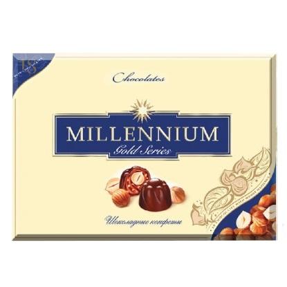 Цукерки в коробці Millennium Gold в молочному шоколаді, 205г