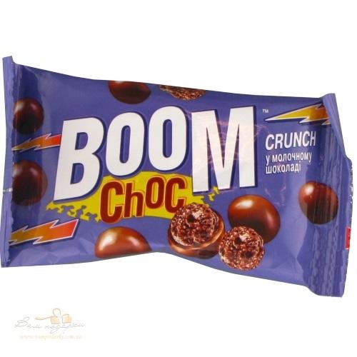 Boom Choc CRUNCH шарики с какао в молочном шоколаде, 30 г