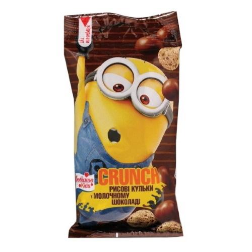 Любимов Kids драже Crunch шарики с какао  в молочном шоколаде, 30г
