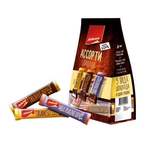 Шоколад Любимов Асорті, (12,5 * 12) 150г