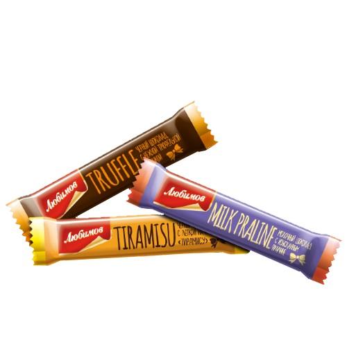 Шоколад Любимов  Ассорти, 12,5г