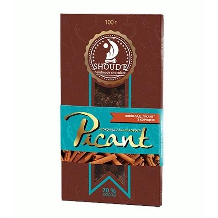Шоколад Сладкий мир «Picant» с корицей, 100г