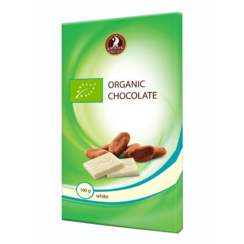 Шоколад органічний «SHOUD'E» білий, 100г
