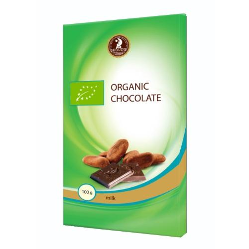 Шоколад органічний «SHOUD'E» молочний, 100г