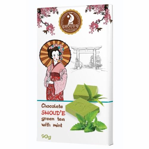 Шоколад «Зеленый чай с мятой», 90г