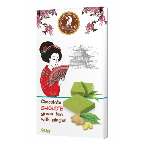 Шоколад «Зеленый чай с имбирём», 90г
