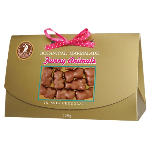 Мармелад «Веселые зверята» в молочном шоколаде, 130г