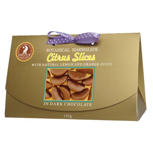 Мармелад «Цитрусовые дольки» в черном шоколаде, 130г