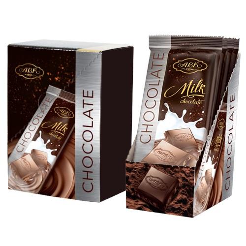 Шоколад АВК молочний 24%, 90г