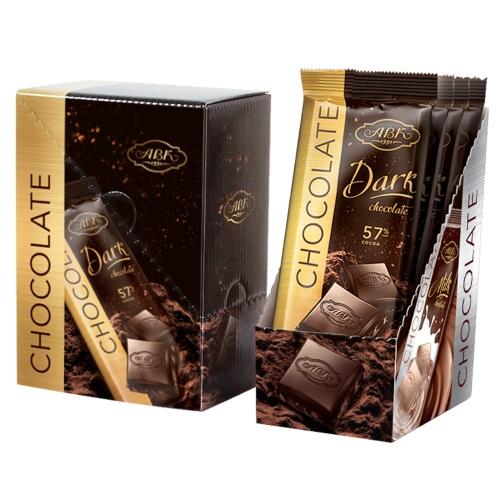 Шоколад АВК чорний 57%, 90г