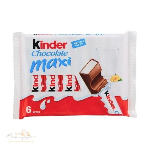 Kinder Maxi шоколадный батон, 6* 21г