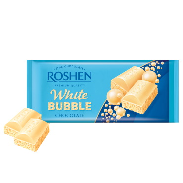 Шоколад «Roshen» пористий білий, 85г
