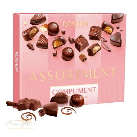 Цукерки в коробці Roshen «Compliment», 145г