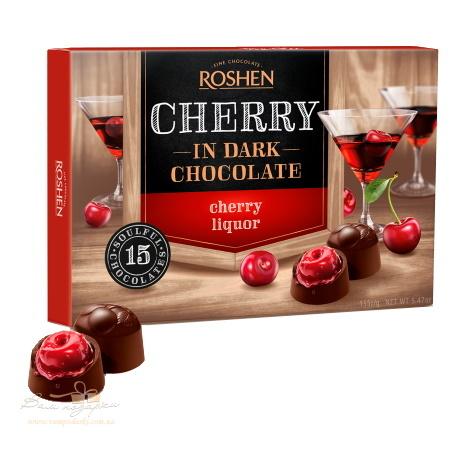 Конфеты в коробке Roshen «Вишня с вишневым ликером», 155г