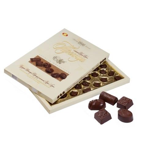 Конфеты в коробке ХБФ «Троянда» с начинкой крем-брюле, 395г