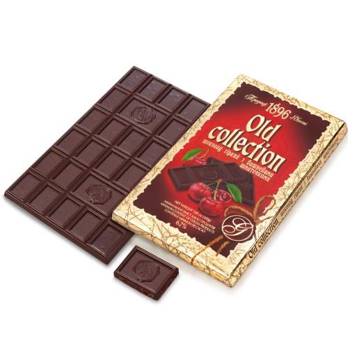 Шоколад ХБФ «Old collection» горький с вишневыми кусочками, 200г