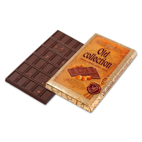 Шоколад ХБФ «Old collection» молочний з лісовим горіхом, 200г