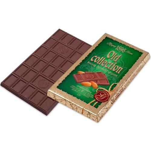 Шоколад ХБФ «Old collection» молочный с миндалем, 200г