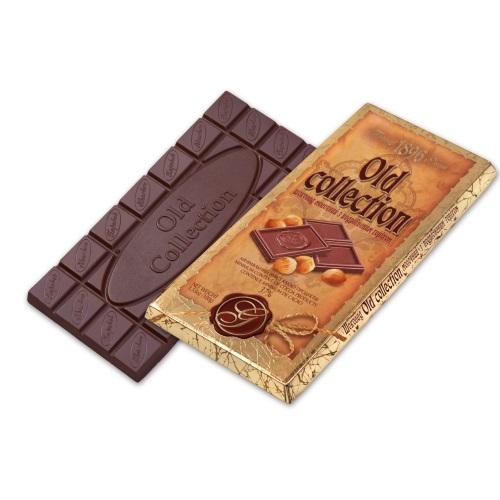 Шоколад ХБФ «Old collection» молочний з подрібненим горіхом,  100г