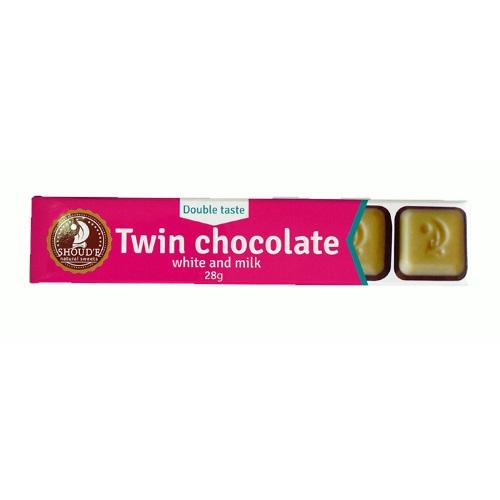 Шоколад двойной «SHOUD'E» белый и молочный, 28г