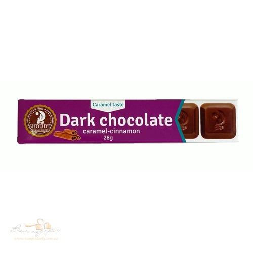 Шоколад черный «SHOUD'E» карамель-корица, 28г