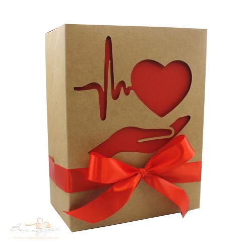 Коробка з крафту «Турботливе серце», 210*160*95