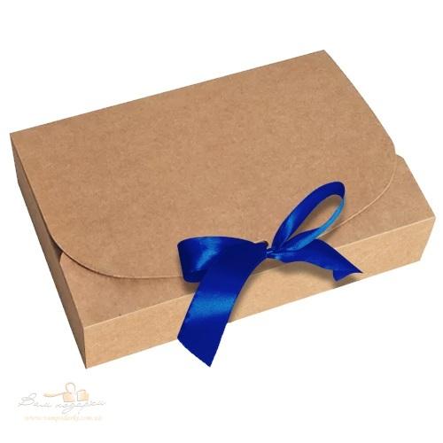 Новорічна упаковка з крафту 260*160*67, 1000г
