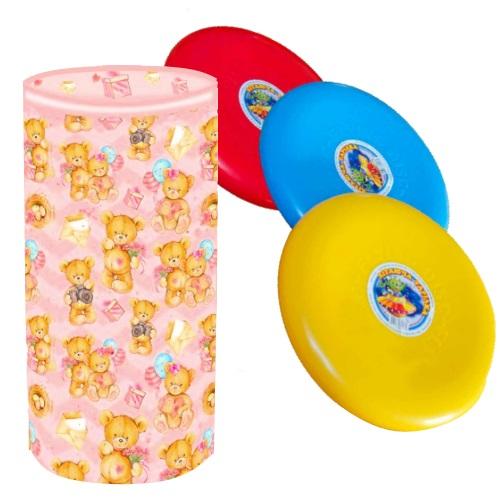Подарочный набор Тубус Медвежата, 355г + фрисби