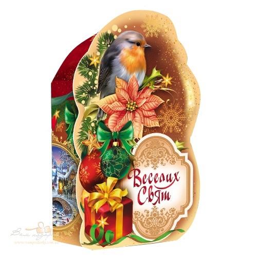 Новогодняя упаковка «Птичка»