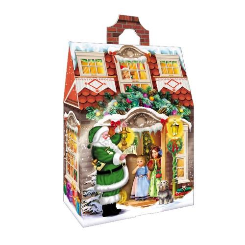 Новогодняя упаковка «Домик ретро»