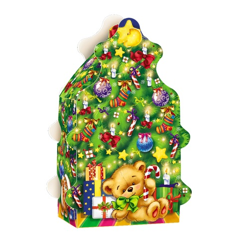 Новорічна упаковка «Ялинка з цукерками», 700г
