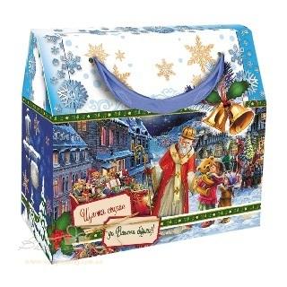 Новогодняя упаковка «Сумка Дед Мороз»